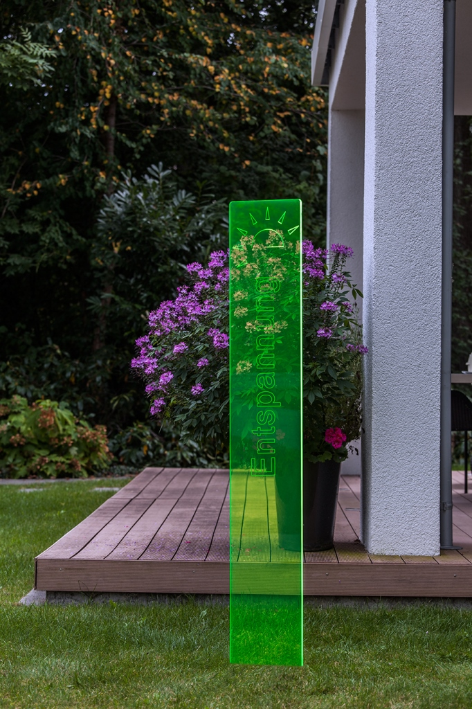 sunart DenkMal No. 03 Entspannung zuversichtlich grün