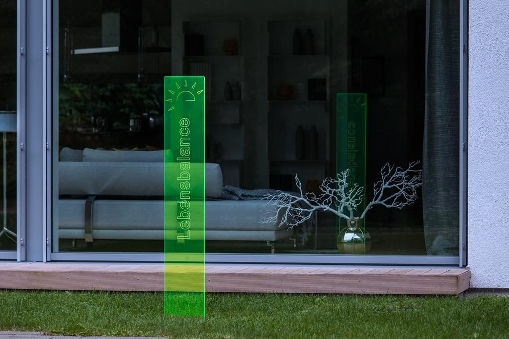 sunart DenkMal No. 05 Lebensbalance zuversichtlich grün