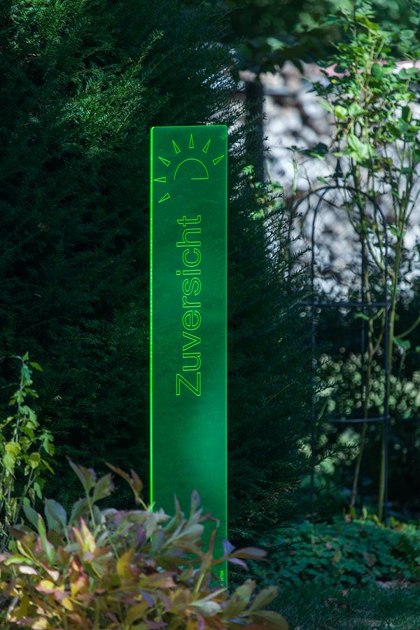 sunart DenkMal No. 04 Zuversicht zuversichtlich grün