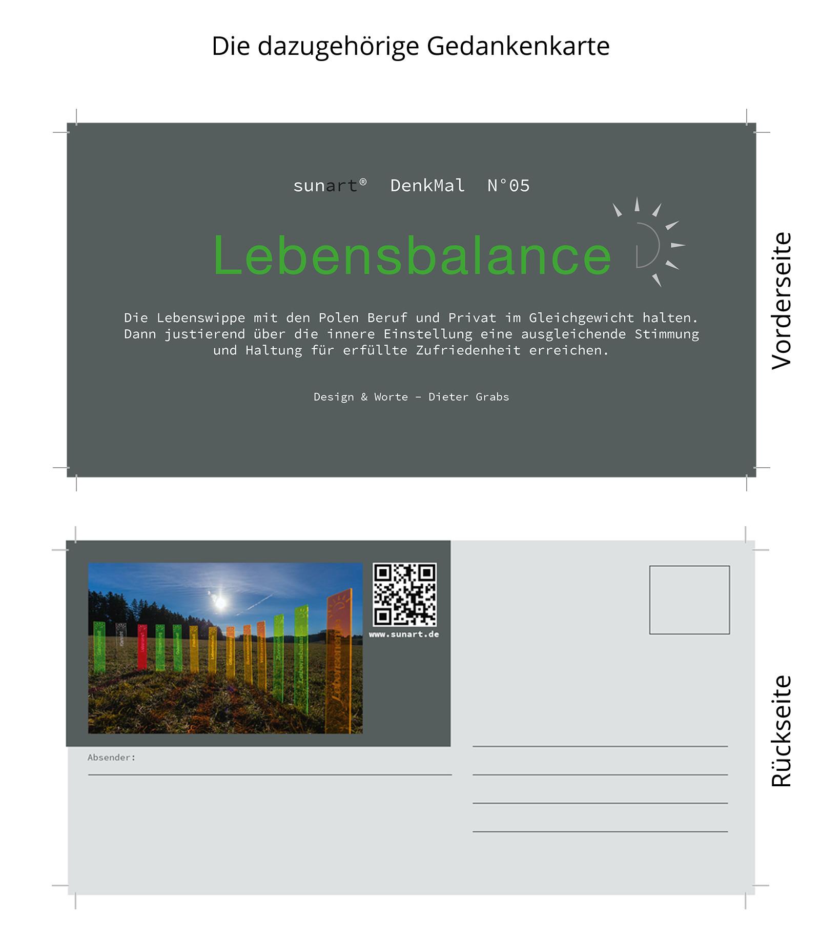 sunart DenkMal No. 05s Lebensbalance zuversichtlich grün