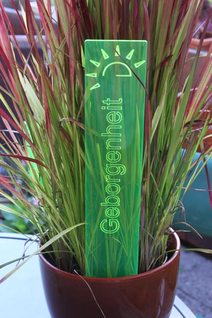 sunart DenkMal No. 01s Geborgenheit zuversichtlich grün