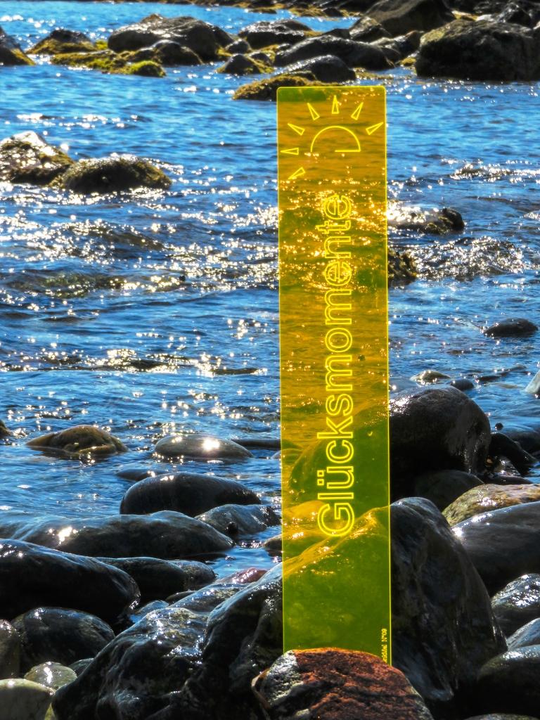 sunart DenkMal No. 09s Glücksmomente strahlend gelborange