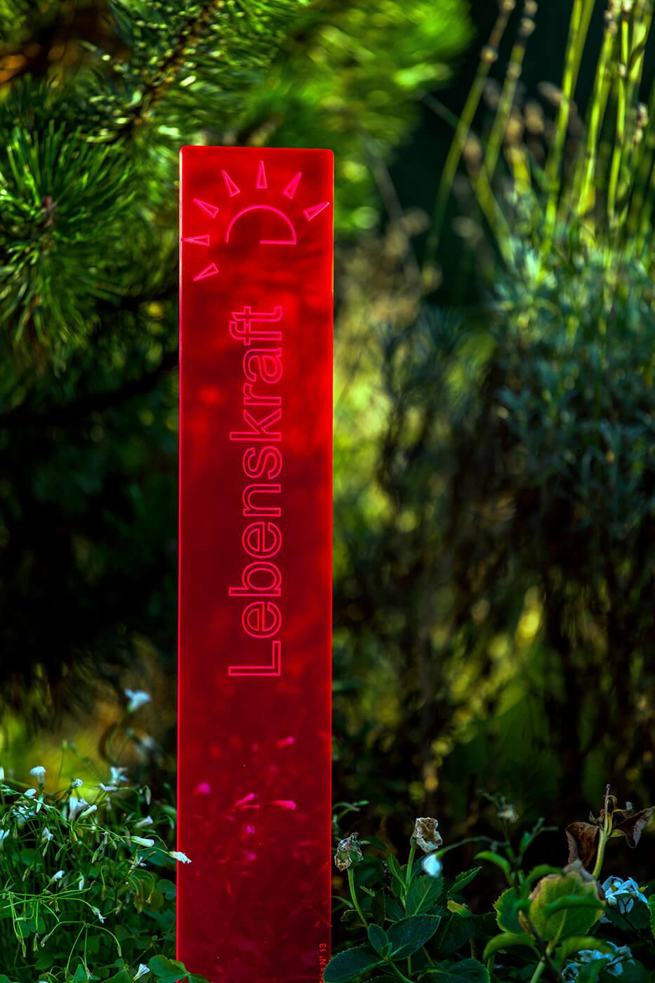 sunart DenkMal No. 13s Lebenskraft energievoll rot