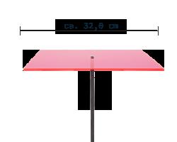 sunart No. 04L Large energievoll rot / 190 cm